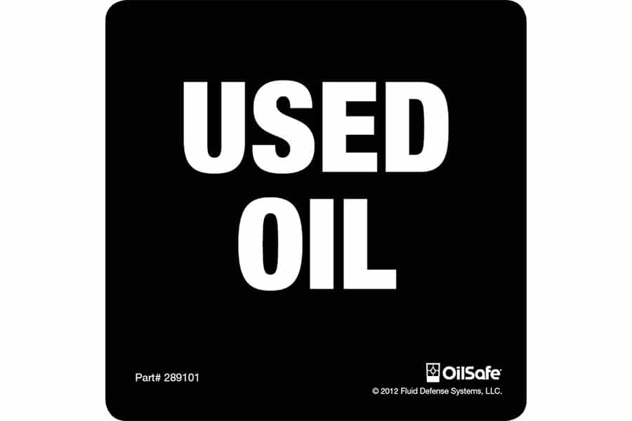 Used Oil Label - Adhesive -