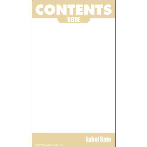 "Contents Label 2"" x 3.5"" - Adhesive -"