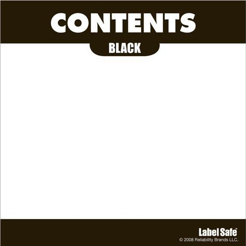 "Contents Label 3.25"" x 3.25"" - Adhesive  -"