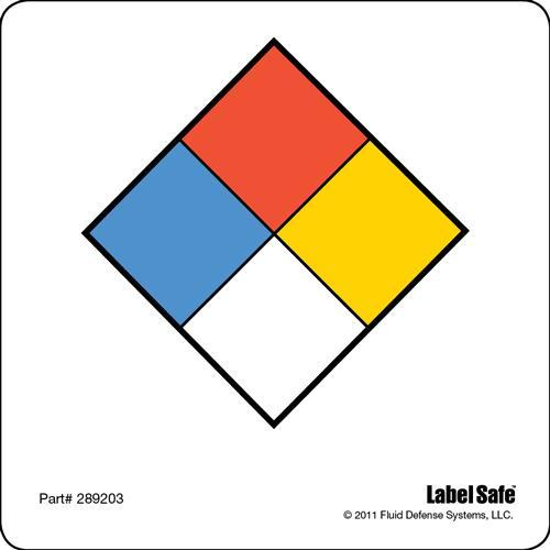 "NFPA Label - Adhesive - 3.25"" x 3.25"" -"